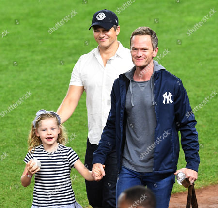 Neil Patrick Harris, David Burtka with daughter Harper Burtka-Harris