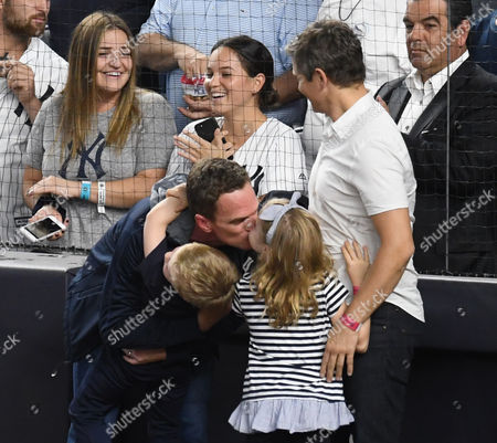 Stock Image of Neil Patrick Harris, David Burtka with son Gideon Burtka-Harris and daughter Harper Burtka-Harris
