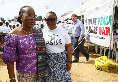 Leymah Gbowee and Catherine Samba-Panza