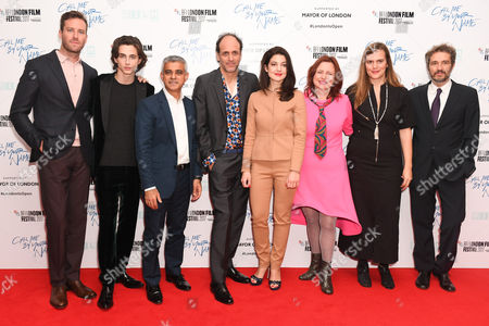 Armie Hammer, Timothée Chalamet, Sadiq Khan, Luca Guadagnino, Esther Garrel, Clare Stewart, Emilie Georges and guest