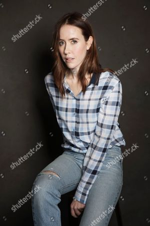 Stock Image of Stephanie Ellis poses for a portrait at Quaker Good Energy Lodge with GenArt and the Collective, during the Sundance Film Festival, on in Park City, Utah