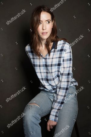 Stock Picture of Stephanie Ellis poses for a portrait at Quaker Good Energy Lodge with GenArt and the Collective, during the Sundance Film Festival, on in Park City, Utah