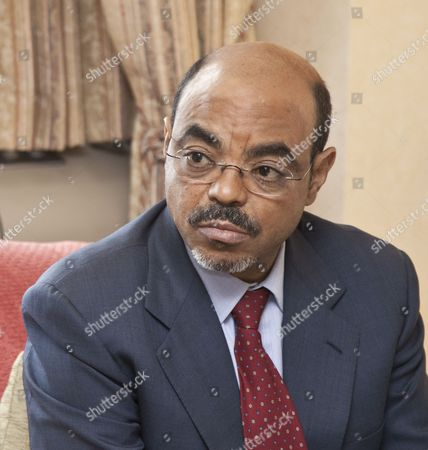 Stock Picture of Ethiopian Prime Minister Meles Zenawi Asres