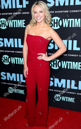 "Kimberley Crossman arrives at the LA Premiere of ""SMILF"" at the Harmony Gold Theater, in Los Angeles"