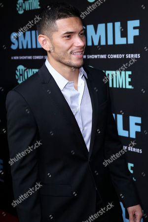 """Miguel Gomez arrives at the LA Premiere of """"SMILF"""" at the Harmony Gold Theater, in Los Angeles"""