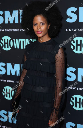 """Stock Photo of Gabrielle Maiden arrives at the LA Premiere of """"SMILF"""" at the Harmony Gold Theater, in Los Angeles"""