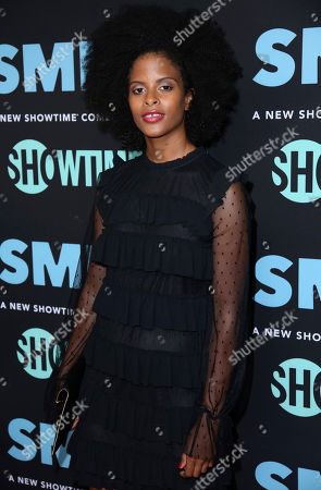"""Gabrielle Maiden arrives at the LA Premiere of """"SMILF"""" at the Harmony Gold Theater, in Los Angeles"""