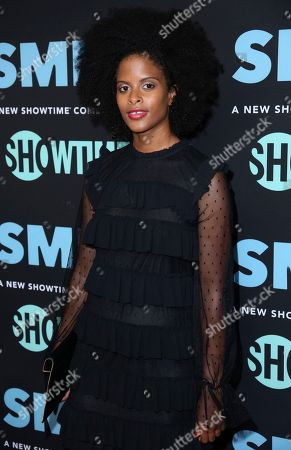 """Stock Picture of Gabrielle Maiden arrives at the LA Premiere of """"SMILF"""" at the Harmony Gold Theater, in Los Angeles"""