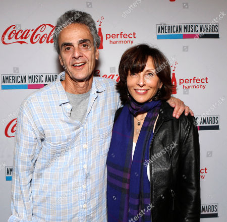 IMAGE DISTRIBUTED FOR UBISOFT - Dick Clark Productions CEO Allen Shapiro and Dick Clark Productions President Orly Adelson attend Ubisoft's Just Dance 4 and The Hip Hop Dance Experience Gifting Suite at the American Music Awards at the Nokia Theater on in Los Angeles