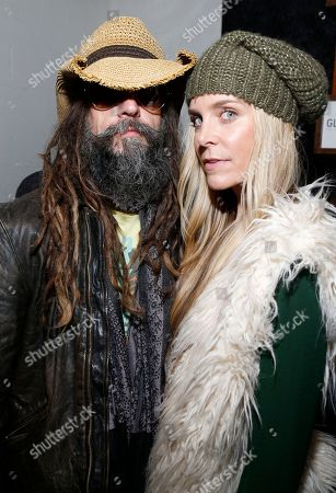 Rob Zombie and wife Sheri Moon Zombie, at the Indiewire Photo Studio at Chase Sapphire on Main during the 2016 Sundance Film Festival in Park City, Utah