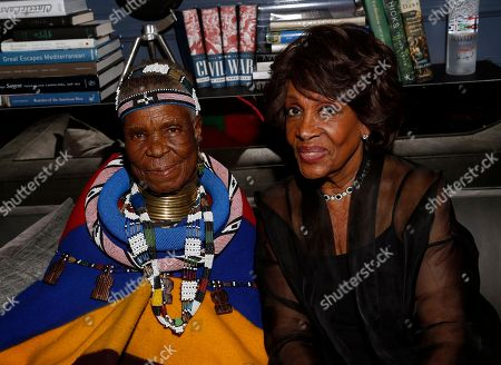 Stock Image of Esther Mahlangu and Maxine Waters seen as Major Contributor Moet Hennessy Celebrates the Unveiling of the National Museum of African American History & Culture (NMAAHC) at The Kickback with Quincy Jones on at The Ritz-Carlton in Washington D.C
