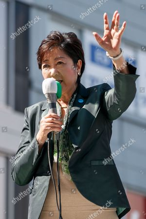 Editorial picture of Yuriko Koike general election campaigning, Tokyo, Japan - 10 Oct 2017