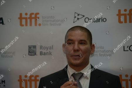 Jalmari Helander seen at the premiere of Big Game at the Ryerson Theatre on Friday,September 5th, 2014, in Toronto, Ontario