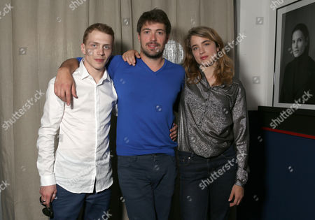 From left, actor Kevin Azais writer/director Thomas Cailley and actress Adele Haenel pose for a portrait for the film Les Combattents at the 67th international film festival, Cannes, southern France