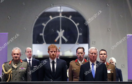 Prince Harry and Secretary of State for Defense Michael Fallon
