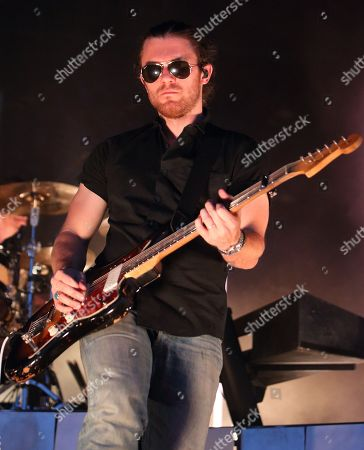 Stock Picture of Dave Welsh of the band The Fray performs in concert at Festival Pier, in Philadelphia