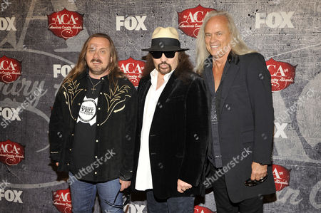 "From left, Johnny Van Zandt, Gary Rossington and Rickey Medlocke of Lynyrd Skynyrd at the American Country Awards in Las Vegas. An all-star cast of performers will salute the seminal Southern rock back during the taping of ""One More For The Fans! Celebrating the Songs & Music of Lynyrd Skynyrd. The Nov. 12 concert will feature performances from Gregg Allman, Alabama, Charlie Daniels, Peter Frampton, John Hiatt, Jamey Johnson, Cheap Trick, among others"