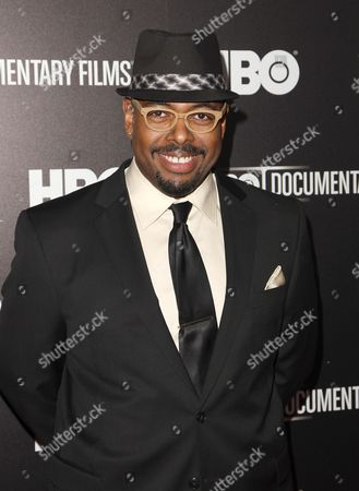 """Musician Christian McBride attends the premiere of the HBO Film """"Mr. Dynamite: The Rise Of James Brown"""" at the Time Warner Screening Room, in New York"""