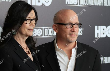 """Stock Picture of Producer Victoria Pearman and director Alex Gibney attend the premiere of the HBO Film """"Mr. Dynamite: The Rise Of James Brown"""" at the Time Warner Screening Room, in New York"""