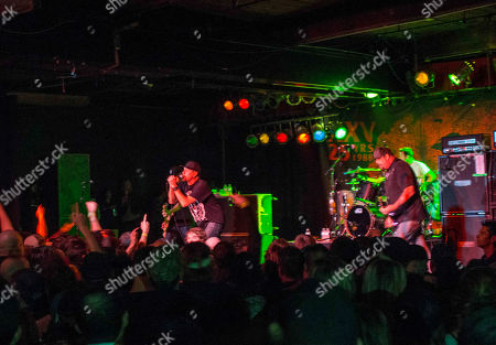 Jim Lindberg, Fletcher Dragge, Byron McMackin and Randy Bradbury with Pennywise performs at the Masquerade, in Atlanta