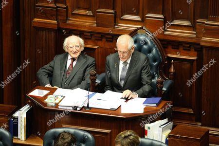 Michael Higgins and Peter Watson