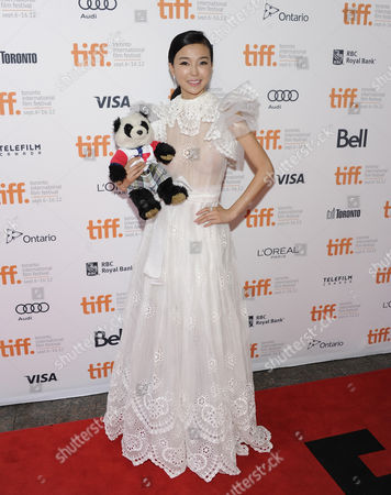 """Actress Yao Xingtong arrives at """"In Conversation With Jackie Chan"""" during the Toronto International Film Festival on in Toronto"""