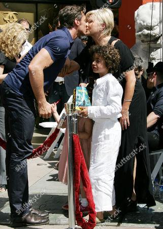 Hugh Jackman,Deborra-Lee Furness and children Oscar Jackman and Ava Jackman