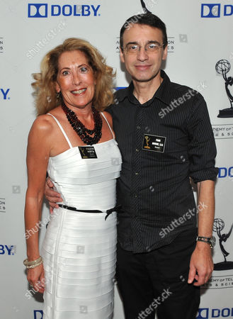 BURBANK, CA - SEPTEMBER 8: Television Academy Governors Eileen Horta and Frank Morrone pose at the 2011 Academy of Television Arts and Sciences Sound Mixing & Sound Editing Nominee Reception held at the Dolby Labs in Burbank, California, Thursday September, 8 2011