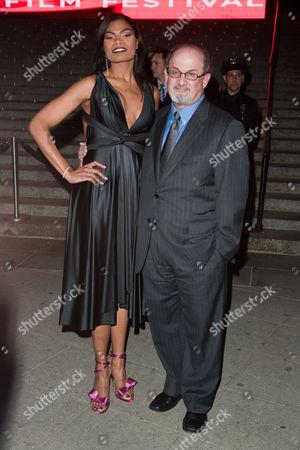 Salman Rushdie and Pia Glenn