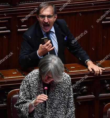 Editorial photo of Italian Government put an election-law bill to a confidence vote, Rome, Italy - 10 Oct 2017