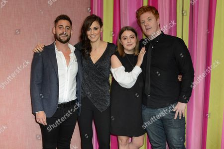Michael Socha, Kelly Wenham, Georgia Groome and Danny Morgan