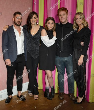Michael Socha, Kelly Wenham, Georgia Groome and Danny Morgan with Cressida Bonas