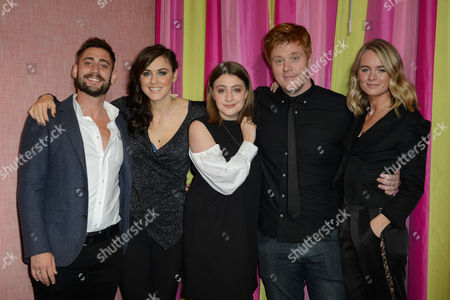 Stock Picture of Michael Socha, Kelly Wenham, Georgia Groome and Danny Morgan with Cressida Bonas