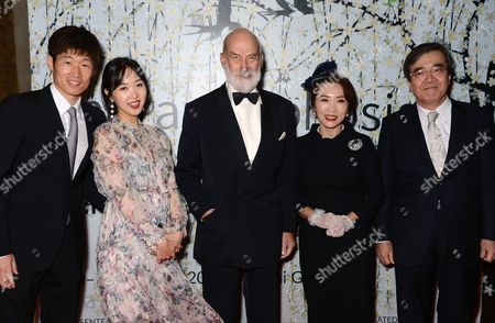 Park Ji-Sung, guest, HRH Prince Michael of Kent, Oh Myung Hee and guest