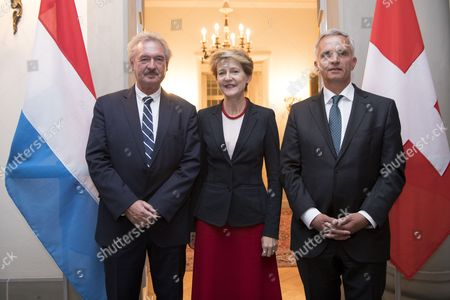 Didier Burkhalter, Jean Asselborn and Simonetta Sommaruga