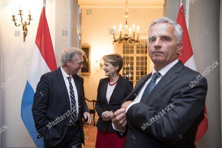Stock Image of Didier Burkhalter, Jean Asselborn and Simonetta Sommaruga