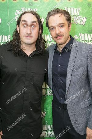 Ross Noble (Igor) and Hadley Fraser (Dr Frederik Frankenstein)