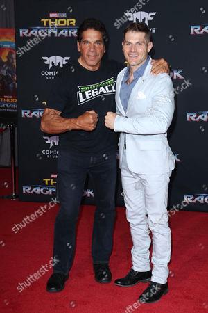 Stock Picture of Lou Ferrigno and Louis Ferrigno Jr.