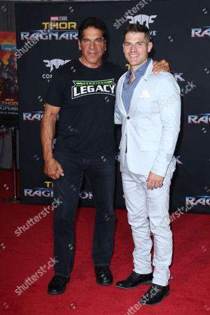 Stock Photo of Lou Ferrigno and Louis Ferrigno Jr.