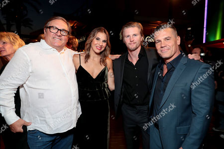 Lorenzo di Bonaventura, Producer, Molly Smith, Producer, Thad Luckinbill, Producer, and Josh Brolin at the red carpet screening of Columbia Pictures' ONLY THE BRAVE at Harkins Theatres Tempe Marketplace