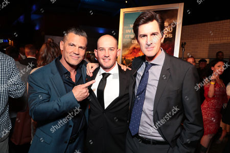 Josh Brolin, Pat McCarty and Joseph Kosinski, Director, at the red carpet screening of Columbia Pictures' ONLY THE BRAVE at Harkins Theatres Tempe Marketplace