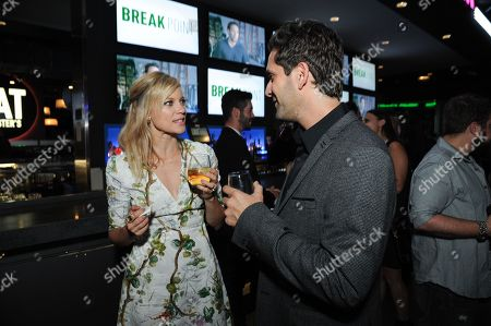 "Actress Amy Smart and director Jay Karas attend the after party for the LA Special Screening of ""Break Point"" held at the TCL Chinese 6 Theatres, in Los Angeles"
