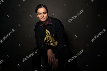Kiowa Gordon poses for a portrait at Quaker Good Energy Lodge with GenArt and the Collective, during the Sundance Film Festival, on in Park City, Utah