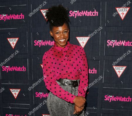 Daniele Watts attends The Hollywood Denim Party at Palihouse in West Hollywood. An attorney for Watts and her boyfriend entered a not guilty plea in Los Angeles to misdemeanor lewd conduct charges on