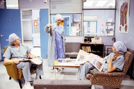 Stock Image of 'Surgical Spirit'  TV - 1990 - Duncan Preston, Marji Campi, Nichola McAuliffe