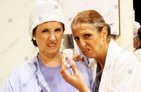 'Surgical Spirit'  TV - 1991 - Cockroaches are invading Gillies Hospital, spreading alarm. Joyce Watson [Marji Campi], Sheila Sabatini [Nichola McAuliffe]