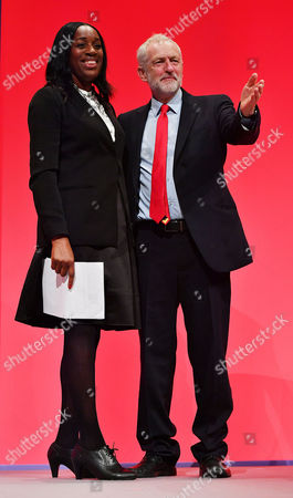 Kate Osamor Shadow Secretary Of State For International Development With Jeremy Corbyn - Labour Party Annual Conference At The Liverpool Exhibition Centre Merseyside.-.