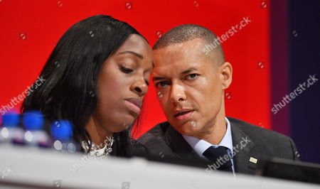 Clive Lewis With Kate Osamor Shadow Secretary Of State For International Development - Labour Party Annual Conference At The Liverpool Exhibition Centre Merseyside.-.