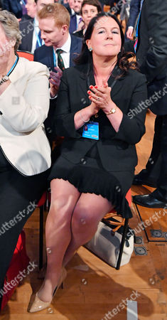 Editorial image of Jesse Fox Listens To Her Husband Liam Fox Mp Secretary Of State For International Trade. - Annual Conservative Party Conference At The Birmingham International Conference Centre. Pic Bruce Adams 3/10/16.