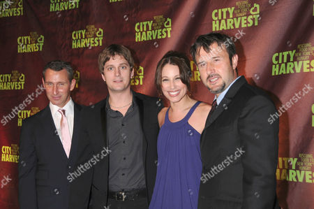 L-R: Rob Thomas, his wife Marisol Thomas and David Arquette